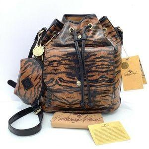 Patricia Nash Tiger Bucket Bag Purse New Crossbody